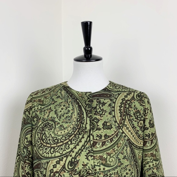 Rafael | Green Paisley Work Blazer Jacket Coat